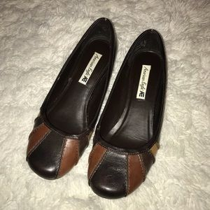 Brown patchwork American Eagle Flats